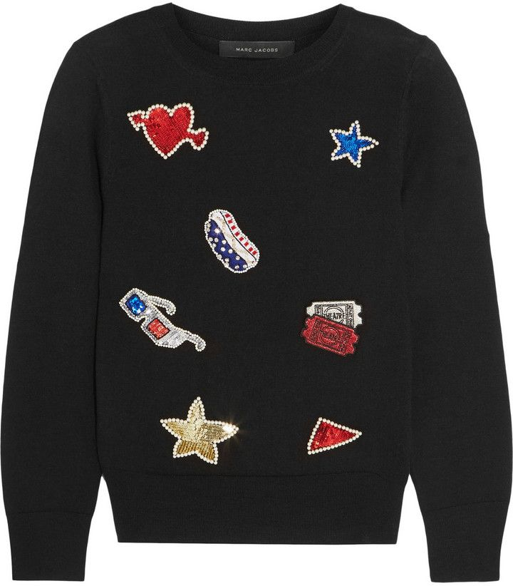 Marc Jacobs Embellished Merino Wool Sweater
