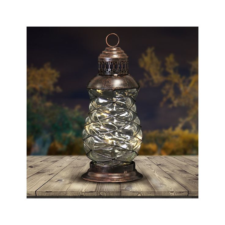 10 Inch Solar Bronze Led Firefly Lantern Dimensions X Made Of Durable Metal And Glass Ed Lights Turns On Automatically At Dusk