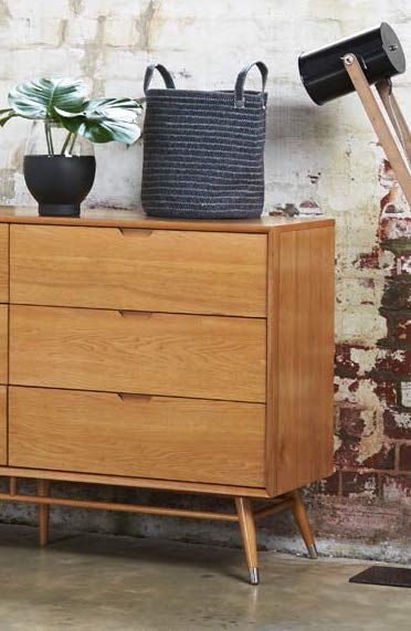 Modern meets vintage with  this tallboy from the Betty suite. Exclusive to Bedshed, it brings a '60s twist to the bedroom.