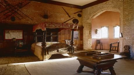The Kings Room where Henry VII slept during his stay at Oxburgh in August 1487  Historical
