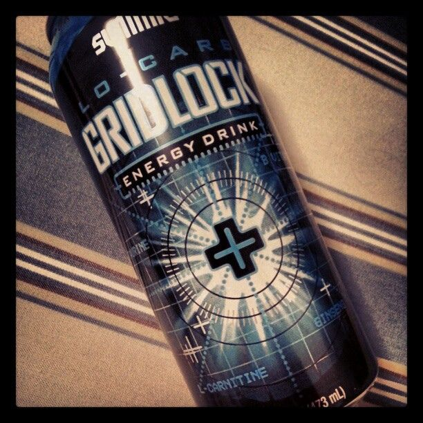 Lo-Carb Gridlock Energy Drink sold by Aldi for 99 cents.