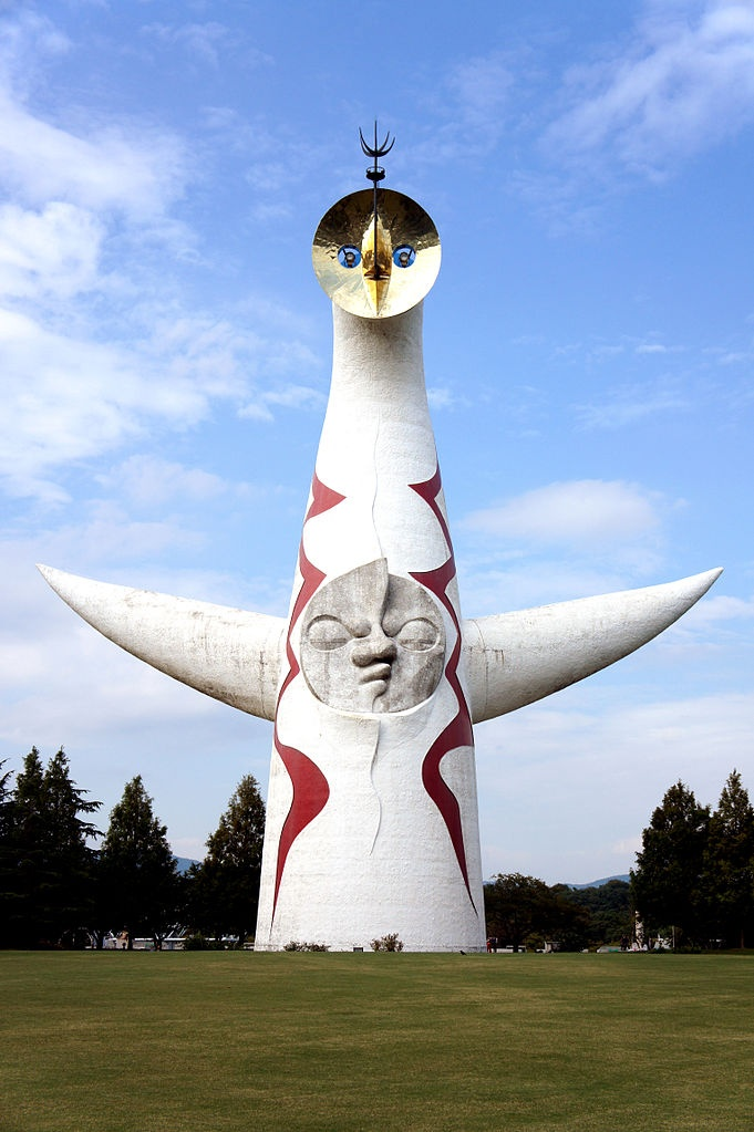 """Tower of the Sun"" by Taro Okamoto.  http://maps.google.co.jp/maps?q=34.809509,135.532397"