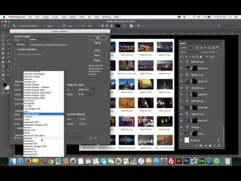 How to easily creste a contact sheet in Photoshop - YouTube