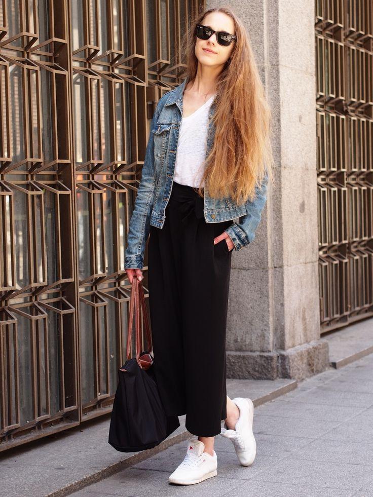 Culottes and Denim Jacket