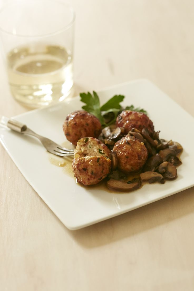 Chicken Marsala Meatballs Recipe by Giada De Laurentiis  | One of the most popular dishes at my restaurant in Vegas!