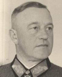 """Friedrich-Wilhelm Müller (29 August 1897 – 20 May 1947) was a General in the German Army in World War II. He was also a recipient of the Knight's Cross of the Iron Cross with Oak Leaves and Swords. He is notorious for having been the most brutal commander of occupied Crete, where he earned the nickname """"The Butcher of Crete."""" After the war, he was tried by a Greek military court for war crimes, convicted and executed."""
