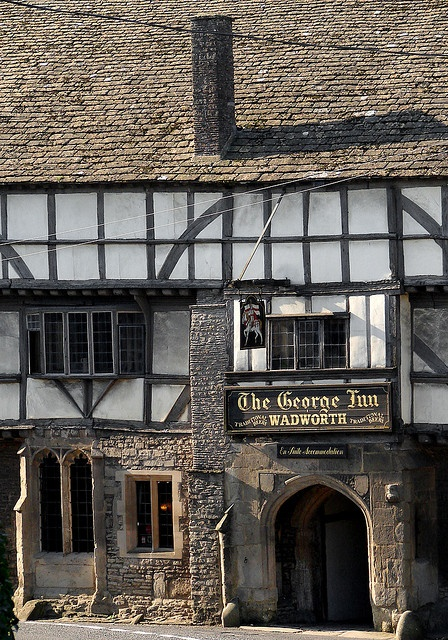 Ancient Inn, Norton St Philip, Somerset, England- I've never been so charmed by a wrong turn in all my life as when I found this place