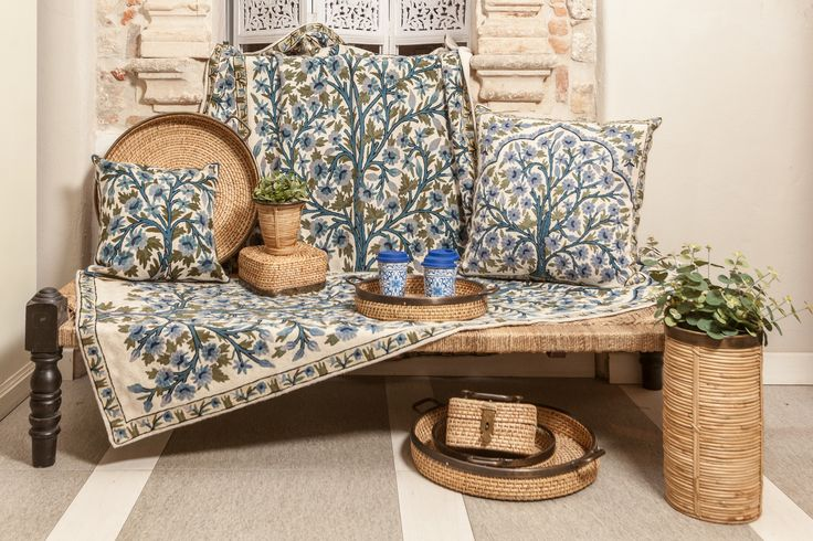 Handmade magical pillow cases and carpets will colour your room into a beautiful forget-me-not forest!