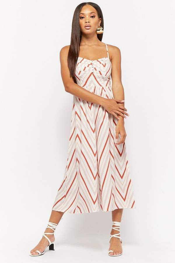 2496dc384b5 Forever 21 Geo-Striped Wide Leg Jumpsuit
