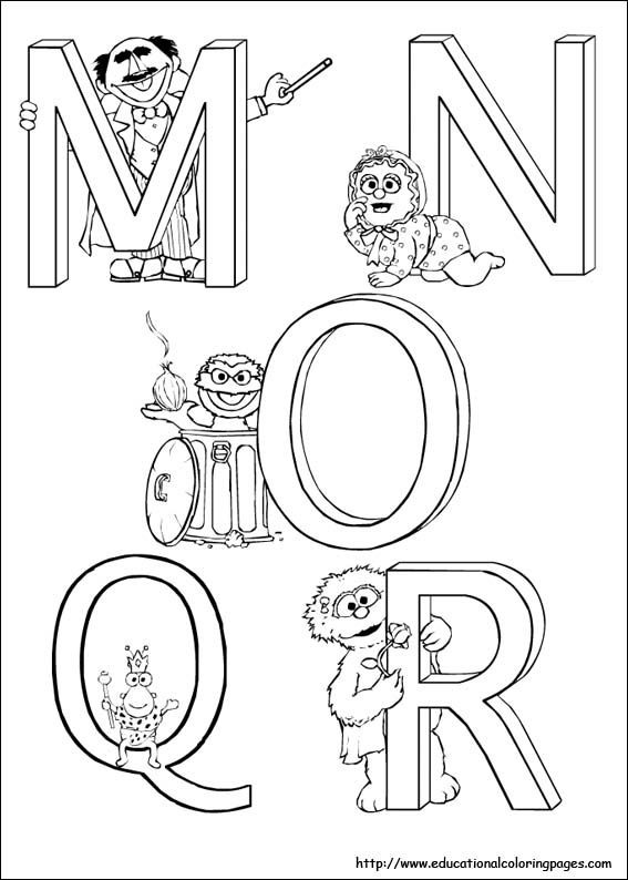 Free Printable Sesame Street Alphabet Worksheets For Kids Tracing Preschool