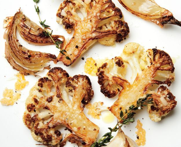Parmesan-Roasted Cauliflower | 14 Easy Side Dishes For Chicken | Simple Yet Flavorful Recipe to make every meal more Delicious! Homemade Recipes : http://homemaderecipes.com/14-side-dishes-for-chicken/