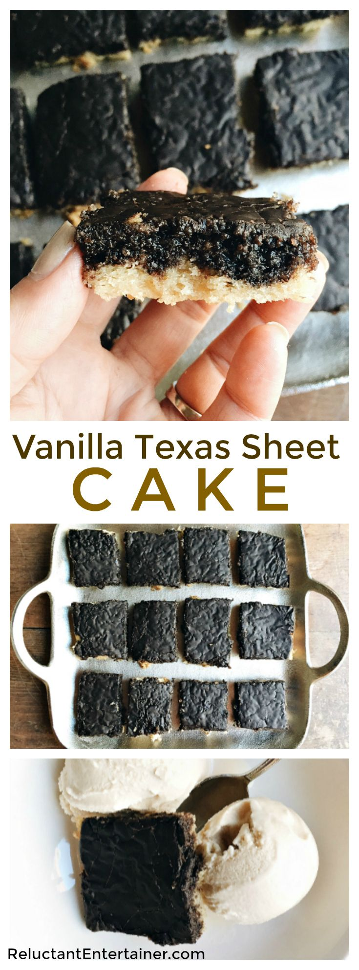 Vanilla Texas Sheet Cake Recipe feeds a crowd, and is delicious served with…
