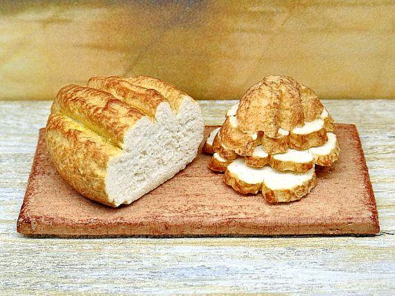 Casa delle bambole miniatura pane casalingo cibo di PiccoliSpazi