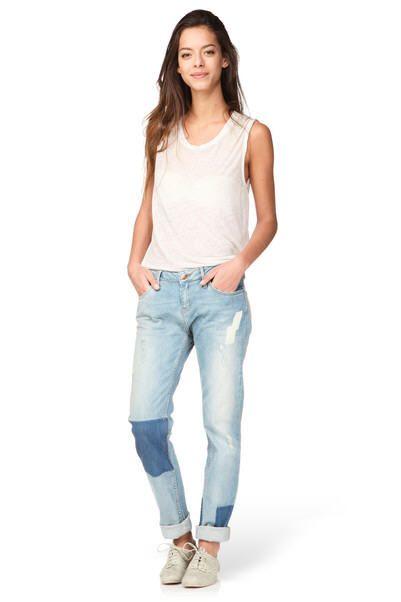 Jean regular usé Tina Bleu Reiko prix promo Jeans Femme Reiko Monshowroom 125.00 €