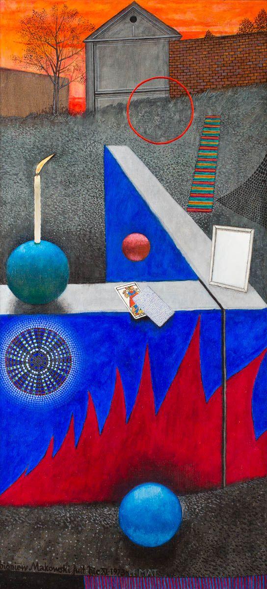 ZBIGNIEW MAKOWSKI (1930)  LE MAT, 1973   olej, płótno / 150x70 cm
