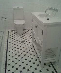 Tessellated Floor Tiles Melbourne Period Tiles Essendon Sunbury Luscombe Tiles Tile Bathroom Octagon Tile Bathroom Bathroom Gallery