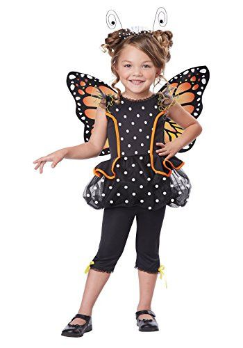 California Costumes Monarch Butterfly Costume, One Color, 4-6/Large