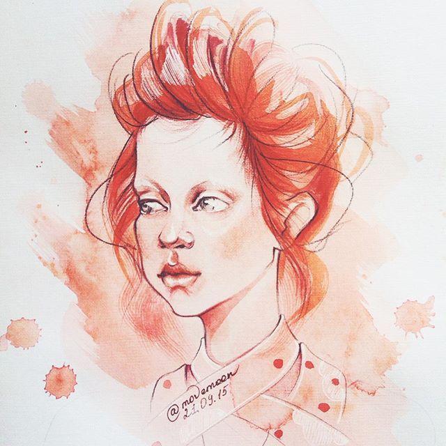 Доброе утро, друзья! Как настроение? Ну что, зажжем эту неделю, как @simonerocha_ на показе #nyfw?  #illustration #fashionillustration #watercolor #акварель #иллюстрация