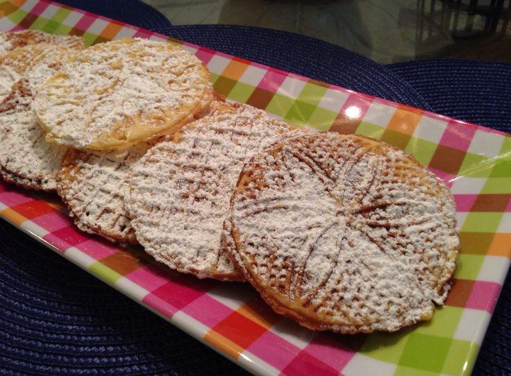 Chestnut flour pizzelle