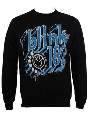 Blink 182 Drip Type Men's Black Sweatshirt