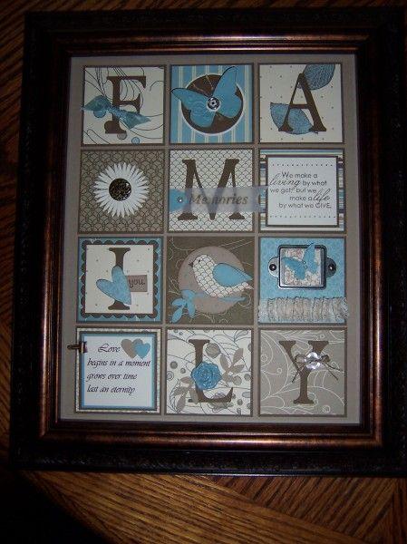 Family Framed Art Collage