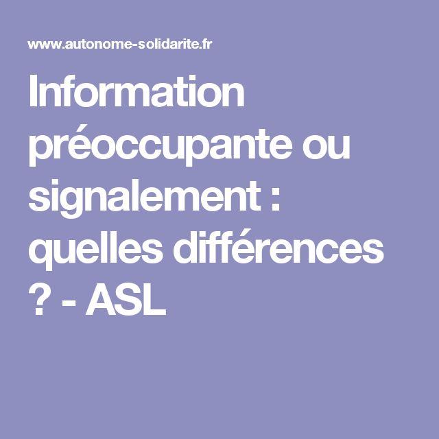 Information préoccupante ou signalement : quelles différences ? - ASL
