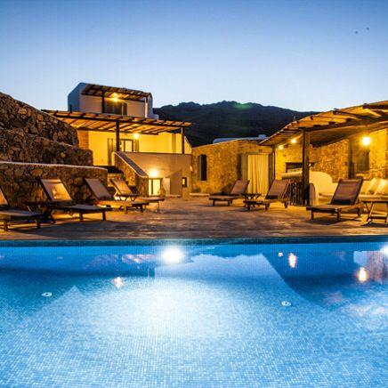 Mykonos Panormos Villas by night