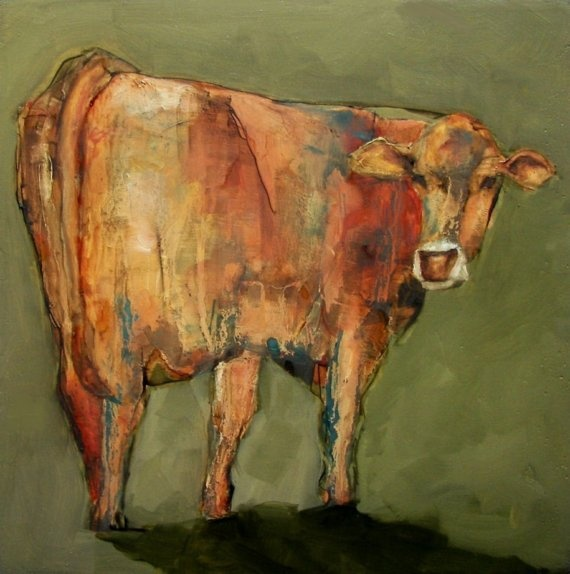 Cow oil painting Artiparti