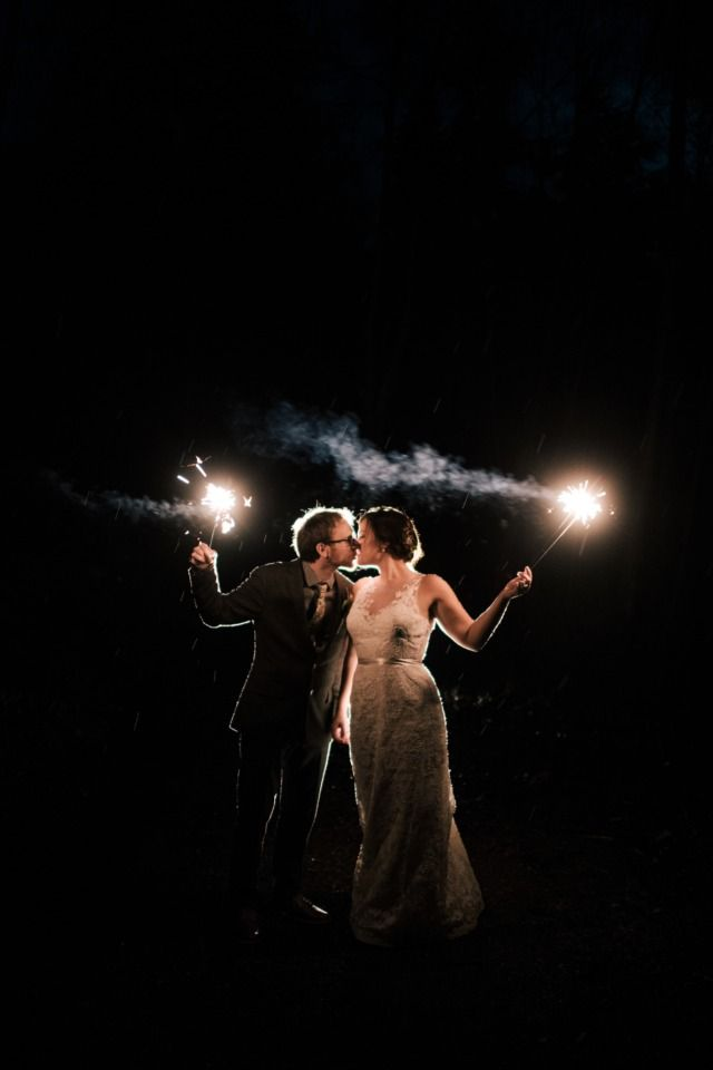 magical sparkler wedding photo idea
