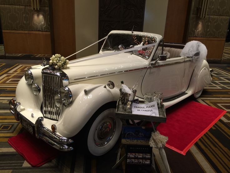One of the wedding cars on display in the Palladium Room at the Crown Casino for a bridal expo (January 2015), Melbourne, Victoria, Australia www.top-notch.com.au www.facebook.com/WeddingDJTopNotch