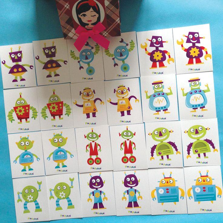 """""""Pia Polya Robot'un Diğer Eşini Bul"""" 12ay ve 48ay çocuklar için uygundur. A3"""