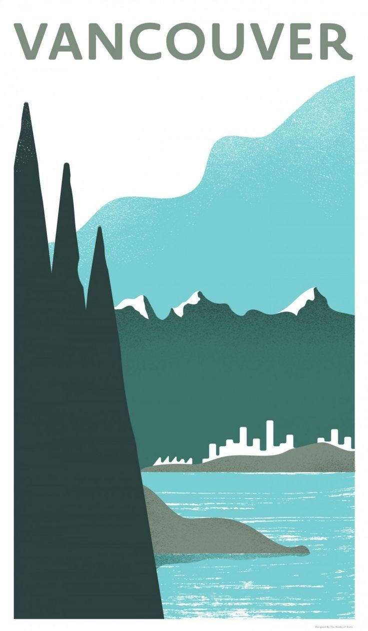 Vancouver, British Columbia, Canada - Travel Poster Series - The Heads of State