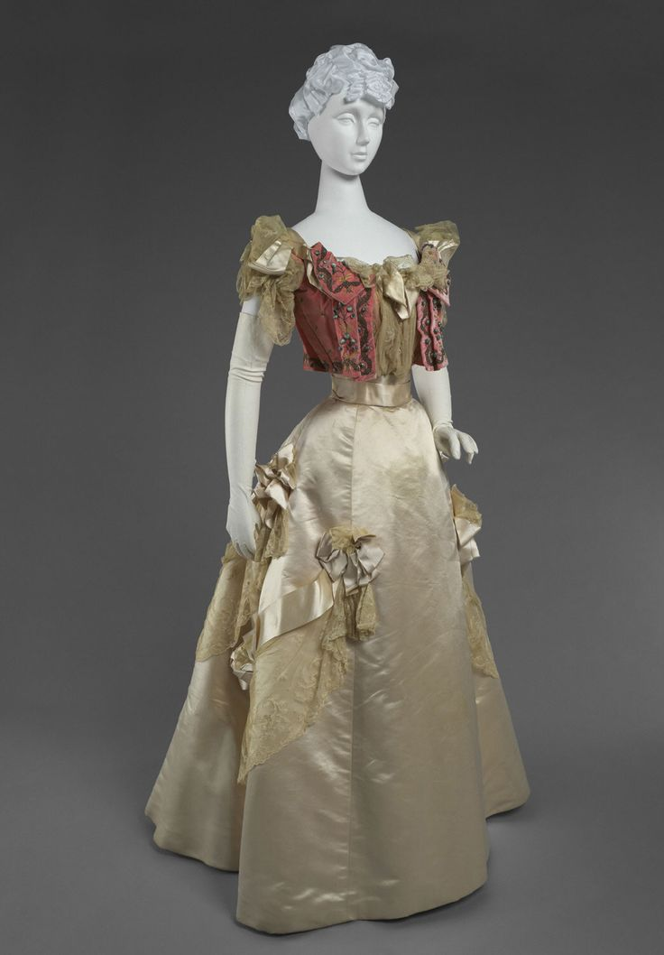 Dress (Bodice And Skirt) Made Of Silk Velvet, Silk Satin, Metallic Thread Embroidery, Beading And Sequins, Lace And Silk Satin Ribbon - Made By M. A. Connelly - American (New York)   c.1905  -  Philadelphia Museum of Art