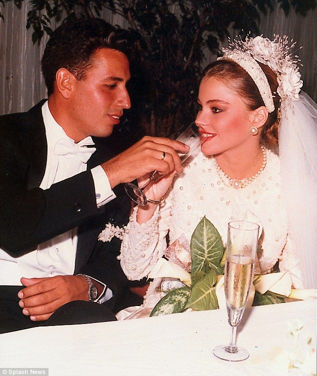 Sofia Vergara's teen wedding to childhood sweetheart in Barranquilla, Colombia in 1991
