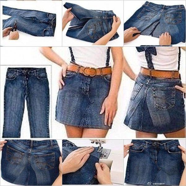 Wenn Sie alte Jeans haben, möchten Sie nicht mehr tragen oder sich ändern