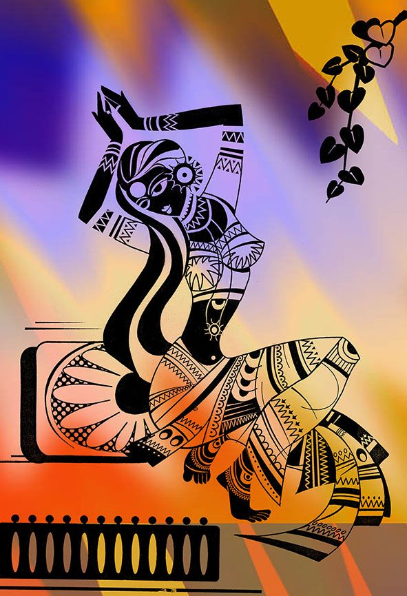 Illustrator: Smita Upadhye Med: pen & Ink