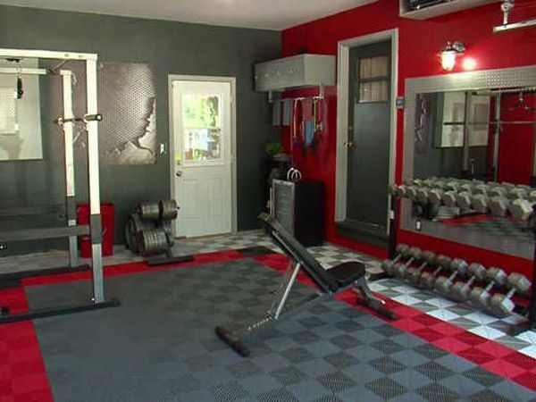 Dude went all out on this garage gym flooring #gym flooring Sports & Outdoors - Sports & Fitness - home gym - http://amzn.to/2jsMKm8
