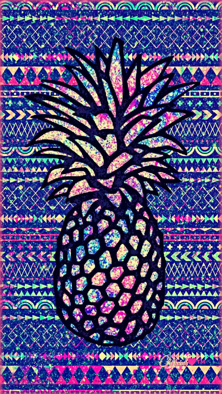 Fruity Pineapple Galaxy Wallpaper #androidwallpaper #iphonewallpaper #wallpaper #galaxy #sparkle #glitter #lockscreen #pretty #pink #cute #girly #pineapple #fruit #shimmer #tribal #pattern #art #aztec #colorful