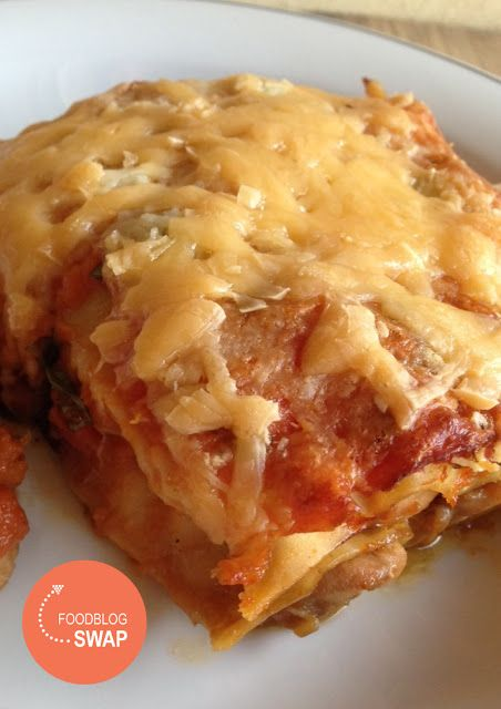 Duizenden1dag: lasagne met pompoen, tomaat en kip