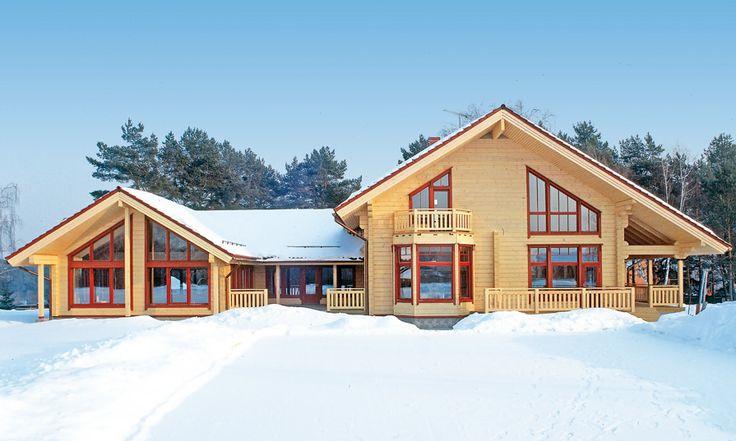 Финский деревянный дом Rovaniemi – фото, планировки, описание, узнать цену. Индивидуальные и типовые проекты.
