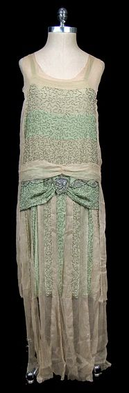 Long Dress 1927, Made of chiffon