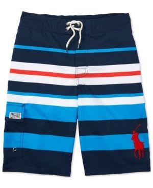 Ralph Lauren Board Shorts, Big Boys (8-20) - Multicolor Stripe XL