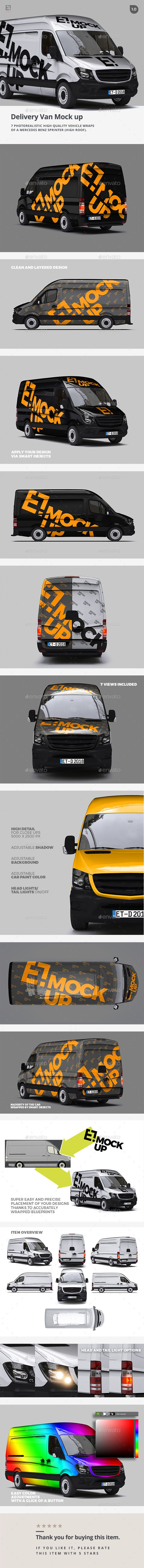 Delivery Van Mock up — Photoshop PSD #airport #transport • Download ➝ https://graphicriver.net/item/delivery-van-mock-up/19802539?ref=pxcr