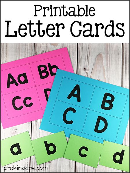 Printable Letter Cards