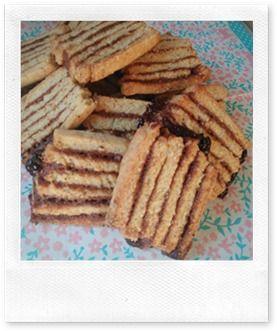 Mon livre de cuisine: Biscuit zébré praliné
