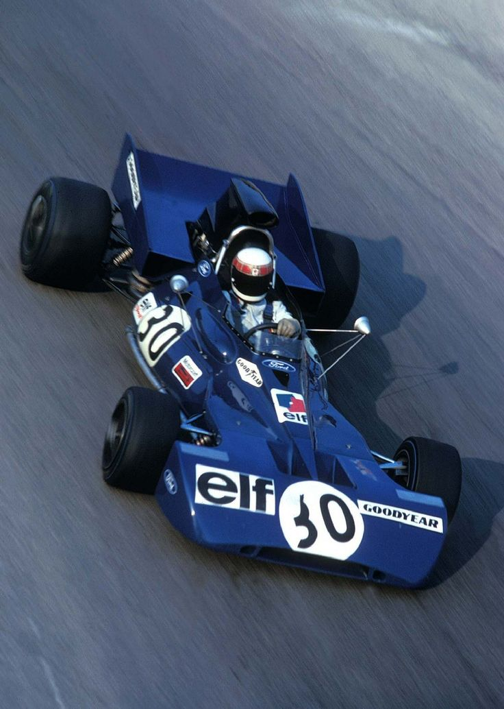 Jackie Stewart in the Tyrrell 003 at Monza '71, Monza,  Province of Monza and Brianza , Lombardy region Italy