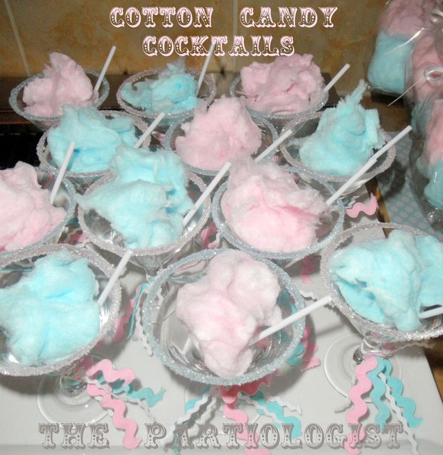 Cotton candy cocktails #carnival #party