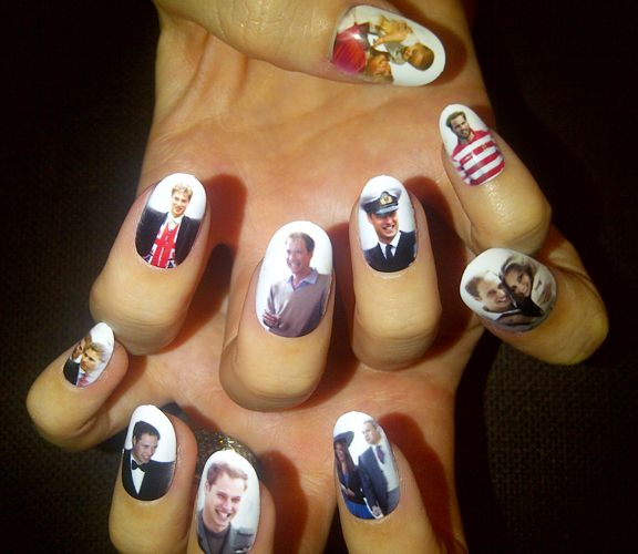 katy perry's nails for the royal wedding! (photos of william and kate): Katyperry, Perry S Royal, Nailart, Wedding Nails, Royals, Prince William, Royal Weddings, Nail Art