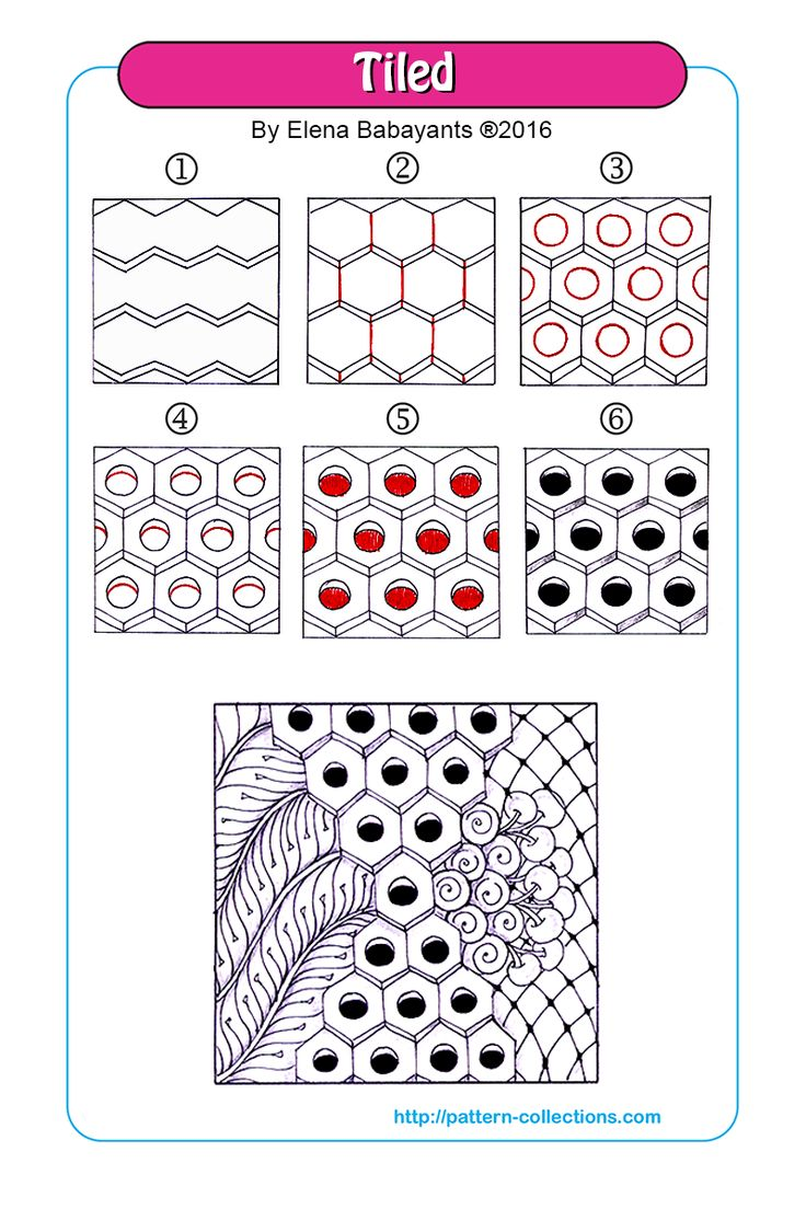 Tiled tangle pattern  by Elena Babayants   PatternCollections.com
