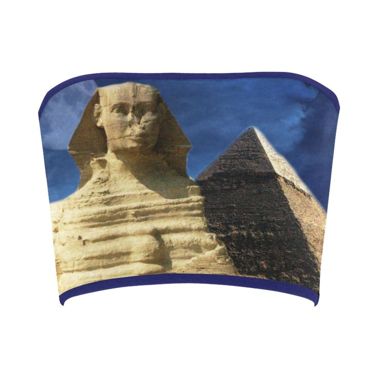 Sphinx and Pyramid Bandeau Top. FREE Returns. #artsadd #tops #egypt